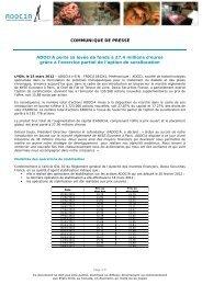 ADOCIA porte sa levée de fonds à 27,4 millions d'euros grâce à l ...