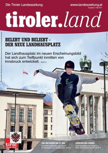 BeLeBT und BeLieBT - der neue LandHauspLaTz - Die Tiroler ...