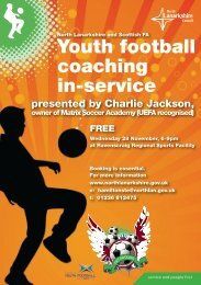 Youth football coaching in-service - Scottish Football Association