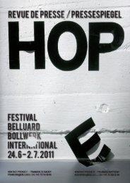 Du 24 juin au 2 juillet prochain - Festival Belluard Bollwerk ...