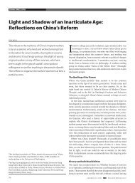 Light and shadow of an inarticulate age: Reflections on china's Reform