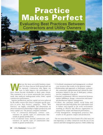 Feature Story - Utility Contractor Online