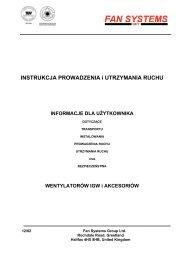 INSTRUKCJA PROWADZENIA i UTRZYMANIA ... - Witt & Son UK