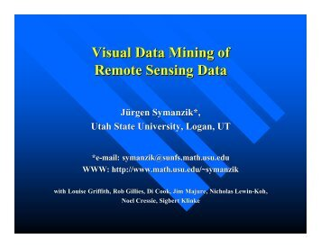 Visual Data Mining of Remote Sensing Data - Utah State University