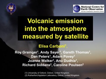 Volcanic emission into the atmosphere measured by satellite - UK-Air