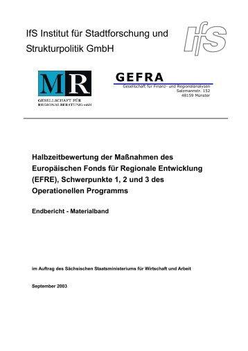 Analyse früherer Bewertungsergebnisse - Strukturfonds in Sachsen ...