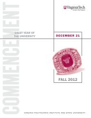 Fall 2012 (PDF) - Virginia Tech