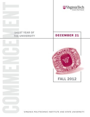 Fall 2012 (PDF) - Virginia Tech