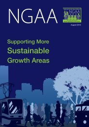 Supporting More Sustainable Growth Areas Brochure - August 2010