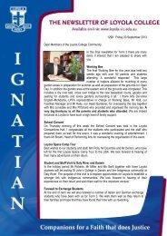 1298: Friday 20 September 2013 Dear Members of ... - Loyola College
