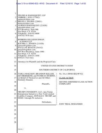 Case 3:10-cv-00940-IEG - Zeldes & Haeggquist, LLP