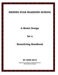 SHINING STAR BOARDING SCHOOL - Bureau of Indian Education