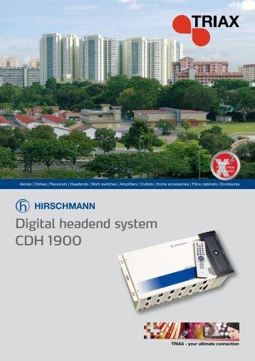 Digital headend system CDH 1900 - Instalsat