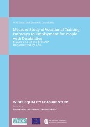 Measure Study of Vocational Training Pathways to Employment for ...