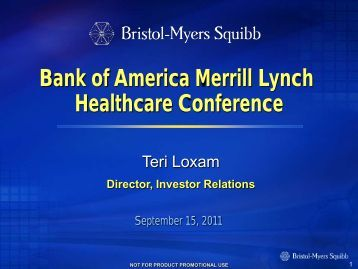 Bank of America Merrill Lynch Healthcare Conference