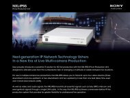 NXL-IP55 Next-generation IP Network Technology Ushers In ... - Sony