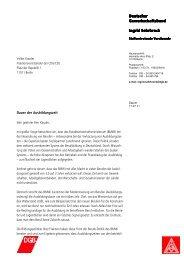 Schreiben an den CDU/CSU-Fraktionsvorsitzenden Volker Kauder