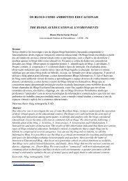 Os blogs como ambientes educacionais Diana Pessoa