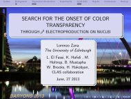 search for the onset of color transparency - Nuclear Physics