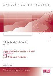Bestell Nr: 11402P 201000 - Thüringer Landesamt für Statistik