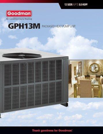 GpH13m PACKAGED HEAT PUMP UNIT - Goodman