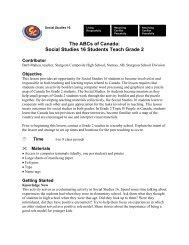 The ABCs of Canada - Wolf Creek Public Schools