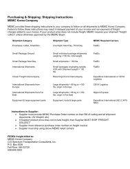 Purchasing & Shipping: Shipping Instructions