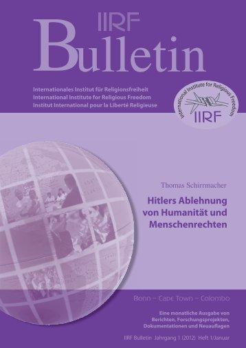 Hitlers Ablehnung von Humanität und Menschenrechten