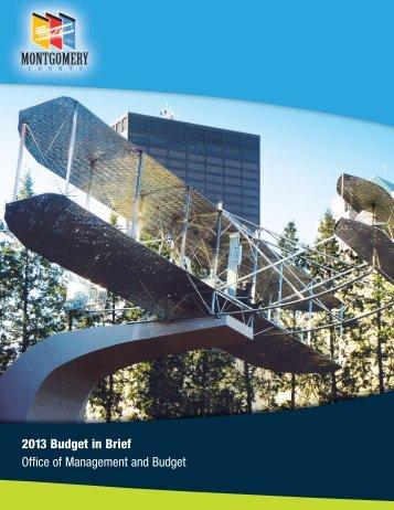 2013 Budget in Brief - Montgomery County, Ohio