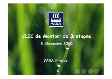 Présentation Yara France CLIC 2010 - DREAL des Pays de la Loire