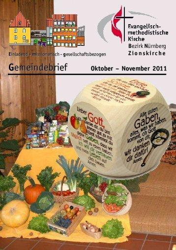 Gemeindebrief-Okt-Nov 2011 - Zionsgemeinde