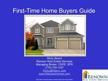 First time homebuyer powerpoint