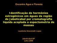 Identificação de hormônios estrogênicos em águas da ... - SIGAM