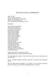 ACTA DEL PLE DE LA CORPORACIÓ - Ajuntament de Lloret de Mar