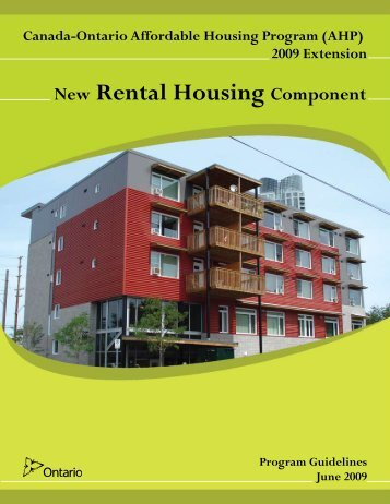 (2009) – New Rental Housing Component - City of Toronto