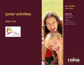 junior activities timetable - Roko Health Clubs