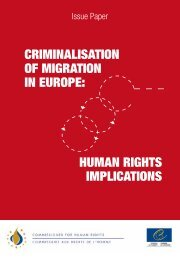 criminalisation of migration in europe - Hans & Tamar Oppenheimer ...