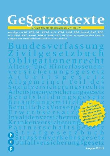 Bundesverfassung Zivilgesetz buch Obligationenrecht