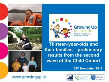 Thirteen-year-olds and their families - Growing Up in Ireland