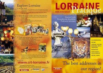 table of contents - Tourisme en Lorraine