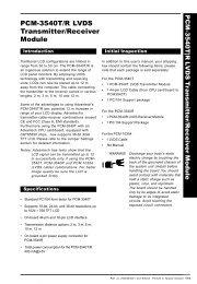 PCM-3540T/R LVDS Transmitter/Receiver Module
