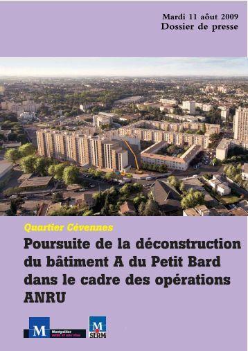 DP Poursuite de la démolition du bat A petit bard_DP ... - Montpellier