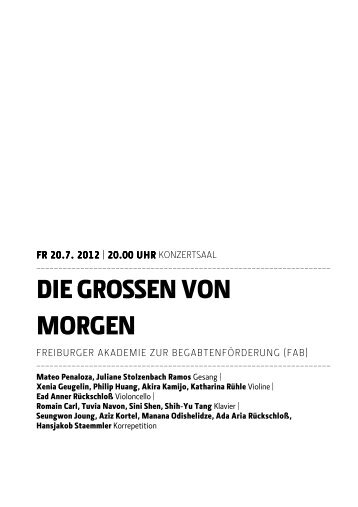 40 free Magazines from MH FREIBURG DE