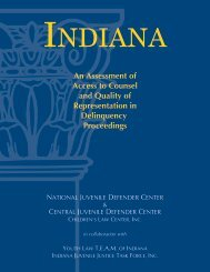 An Assessment of Access to Counsel and Quality of Representation in