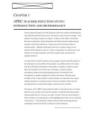 APEC TEACHER INDUCTION STUDY - Asia-Pacific Economic ...