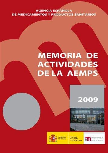 Memoria de actividades de la AEMPS 2009 - Agencia Española de ...