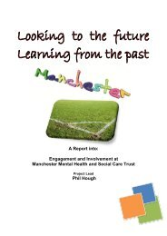 Engagement and Involvement at Manchester Mental Health and ...