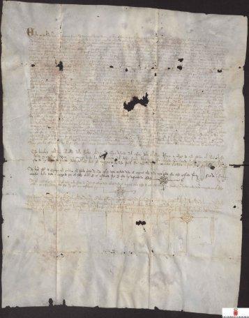 (12-11-1385) al Adelantado Alfonso Yañez Fajardo, sobre