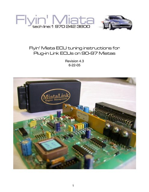Flyin' Miata ECU tuning instructions for Plug-in Link ECUs