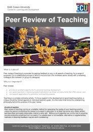 Peer Review of Teaching - Edith Cowan University
